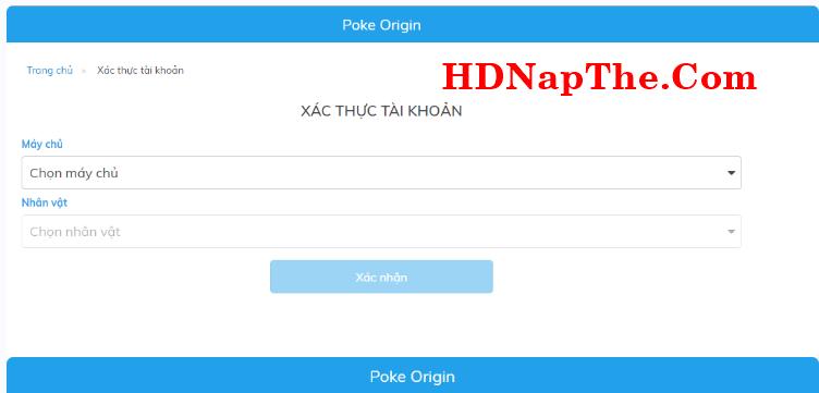 cách nạp thẻ poke origin