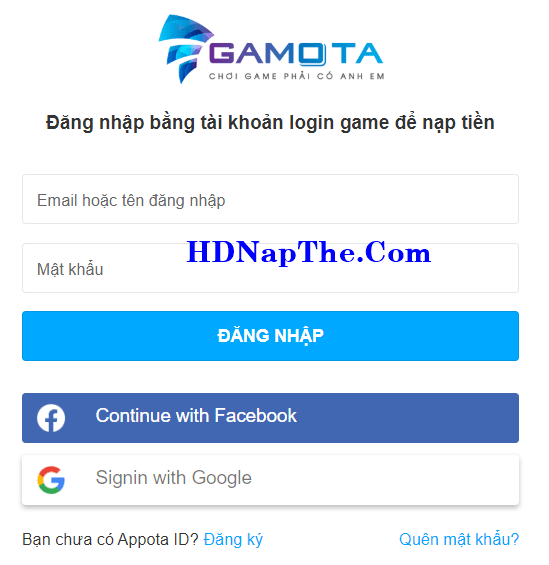 nạp thẻ game aog