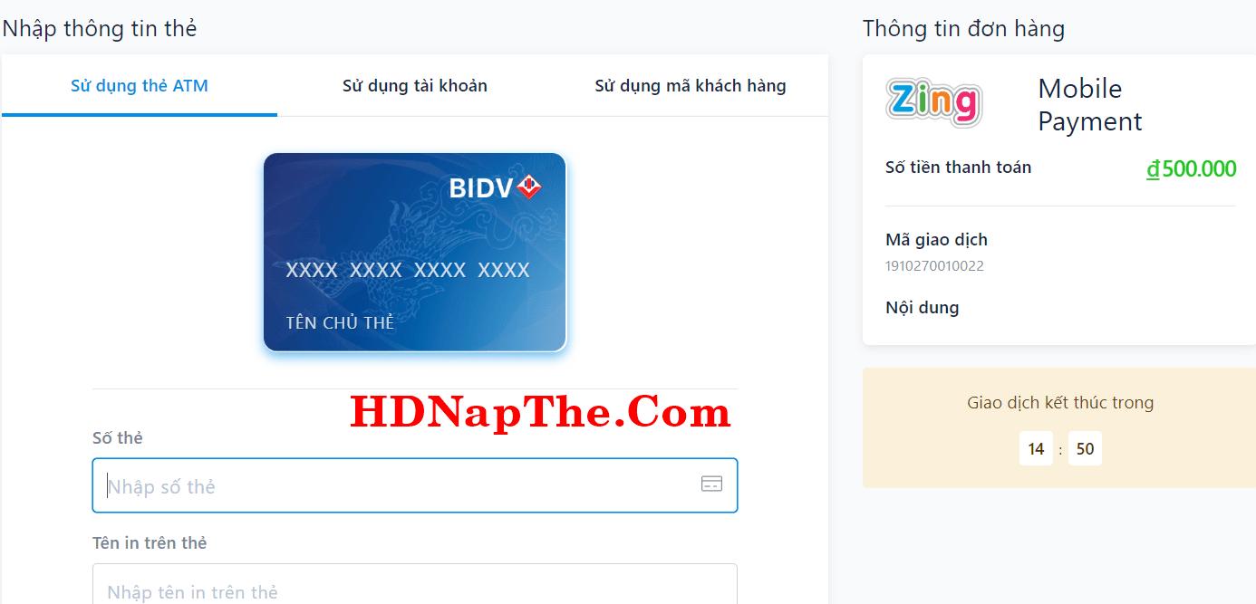 nạp thẻ kiếm ca vng mobile