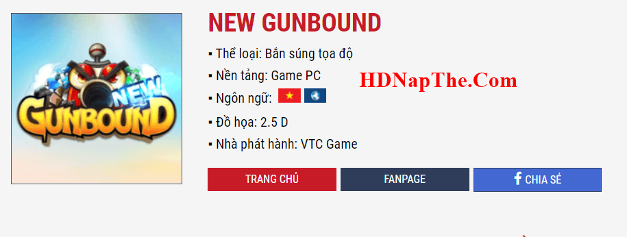 Nạp Thẻ New Gunbound