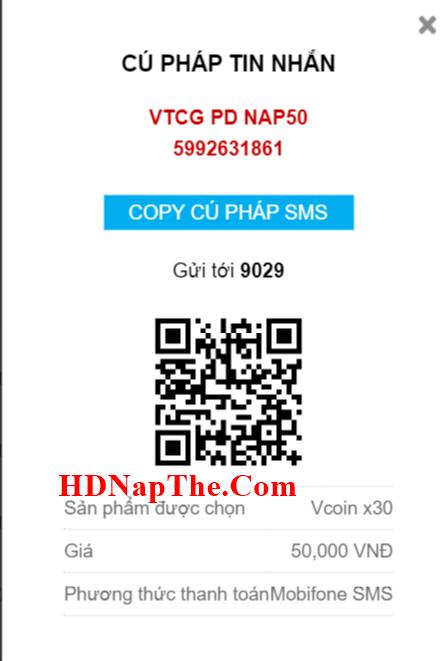mua thẻ vcoin bằng sms viettel 2020
