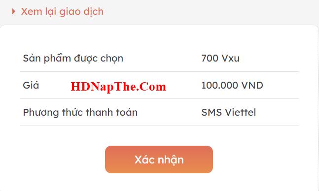 cách Nạp VXU bằng sms