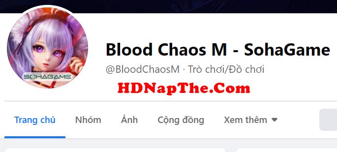 Nạp Thẻ Blood Chaos M
